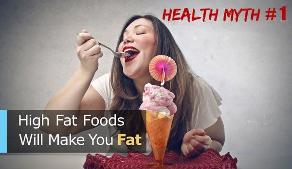 eating foods high in fat will make you fat health myth